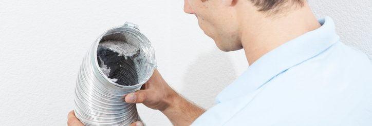 Inspecting Dryer Vent tube